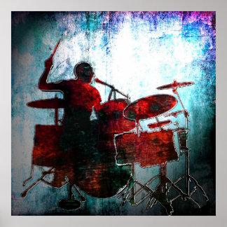 Estallido del batería del color, Copyright Karen J Impresiones