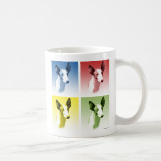 Estallido del perro de Ibizan Tazas De Café