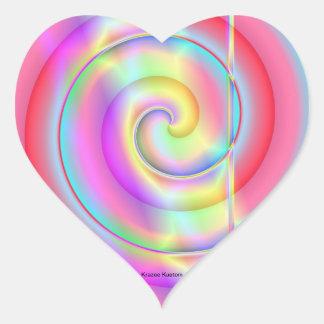 Estallido del polo pegatina en forma de corazón
