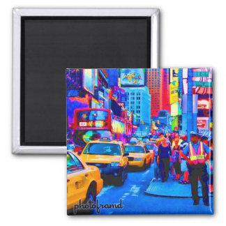 Estallido del Times Square 2 Imanes Para Frigoríficos