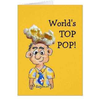 Estallido del top del mundo - tarjeta del día de