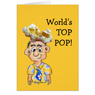 Estallido del top del mundo - tarjeta del día de p