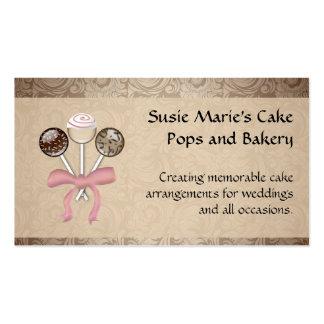Estallido elegante de la torta del damasco del cac plantilla de tarjeta de negocio