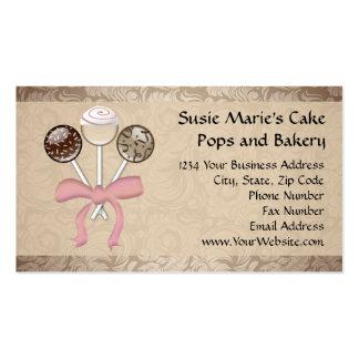 Estallido elegante de la torta del damasco del tarjetas de visita