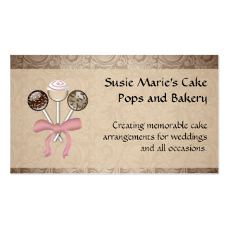 Estallido elegante de la torta del damasco del plantilla de tarjeta de negocio