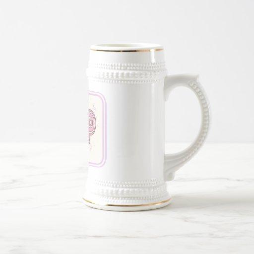 Estallido en rosa tazas de café