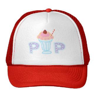 Estallido púrpura del helado gorras