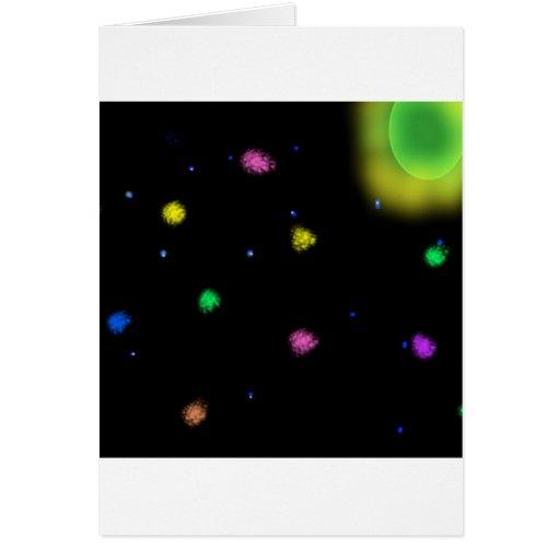 estallido-roca-en-espacio 1 tarjeta de felicitación