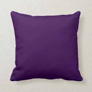 Estallido sólido de la púrpura real del color almohadas