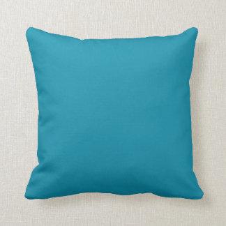 Estallido sólido de las azules turquesas del color cojin