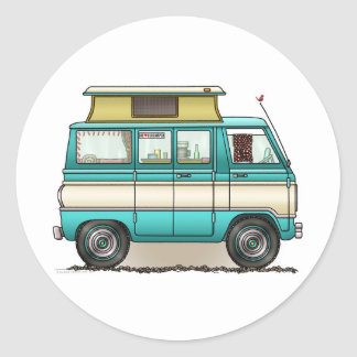 Estallido Van superior Camper Etiquetas Redondas