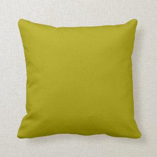 Estallido verde chartreuse sólido del color cojín