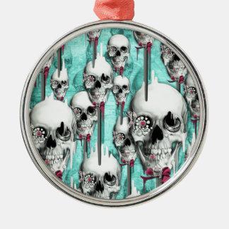 Estallidos de fusión del cráneo del azúcar del azú ornamento de navidad