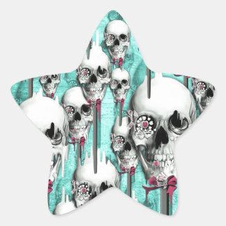 Estallidos de fusión del cráneo del azúcar del colcomanias forma de estrellaes personalizadas
