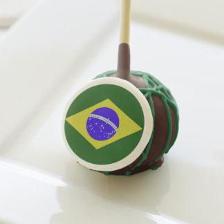 Estallidos de la torta de chocolate de la bandera