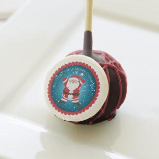 Estallidos de la torta del navidad de Santa de las
