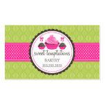 Estallidos de la torta y tarjetas de visita rosada