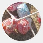 Estallidos de Lolli del caramelo Pegatina Redonda