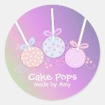 Estallidos en colores pastel de la torta pegatinas redondas