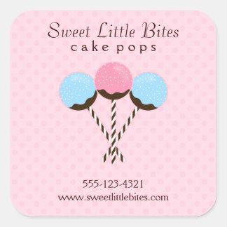 Estallidos lindos y de moda de la torta pegatina cuadrada