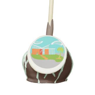 Estallidos modernos de la torta de la casa del