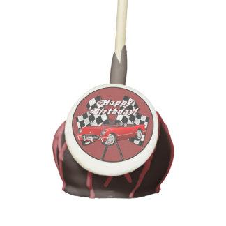 Estallidos rojos de la torta del coche de deportes