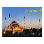 Estambul - Blue Mosque at twilight Postal