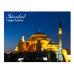 Estambul - Hagia Sophia en la postal de la noche
