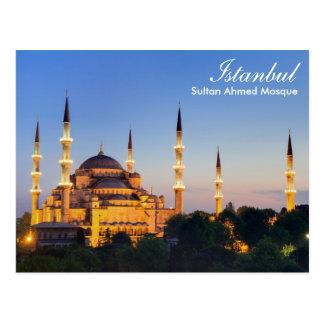 Estambul - mezquita de Ahmed del sultán en la Tarjeta Postal