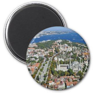 Estambul - Sultanahmet (imán redondo) Imán Redondo 5 Cm