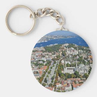 Estambul - Sultanahmet (llavero del botón) Llavero Redondo Tipo Pin