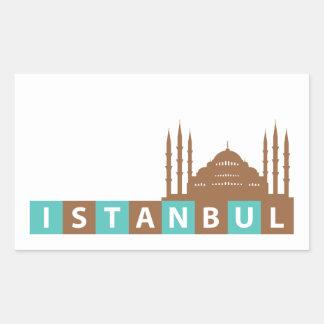 Estambul, Turquía Pegatina Rectangular