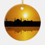 Estambul y puesta del sol adorno para reyes