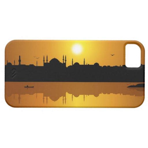 Estambul y puesta del sol iPhone 5 protectores