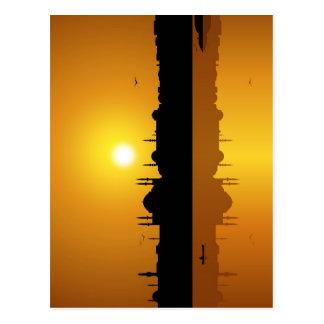 Estambul y puesta del sol postales