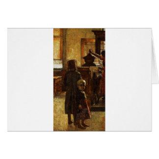 Estaminet - Flemish Tavern 1884 by Lesser Ury Card