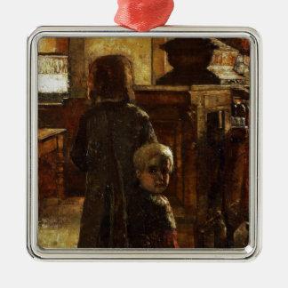 Estaminet - Flemish Tavern 1884 by Lesser Ury Metal Ornament