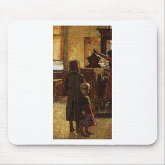 Estaminet - Flemish Tavern 1884 by Lesser Ury Mouse Pad