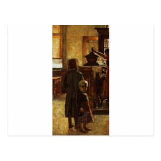 Estaminet - Flemish Tavern 1884 by Lesser Ury Postcard