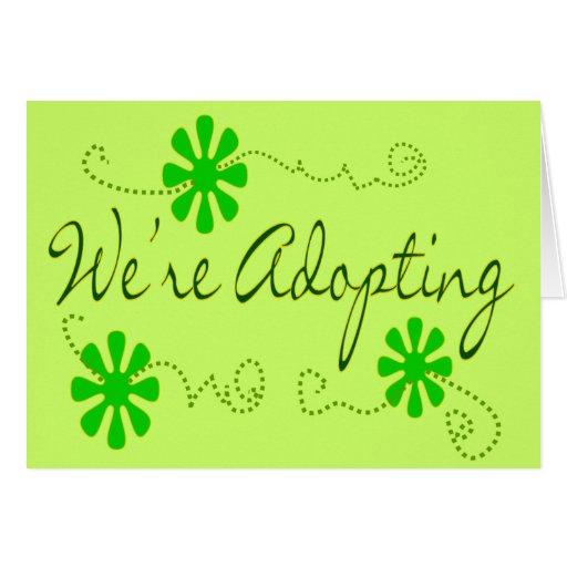 Estamos adoptando---Tarjetas de la invitación Tarjeta De Felicitación