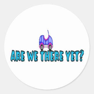 ¿Estamos allí todavía? Pegatinas Redondas