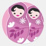 Estamos contando con los TRÍOS 3 muñecas del babus Etiqueta Redonda