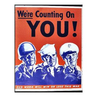 """Estamos contando en usted folleto 8.5"""" x 11"""""""