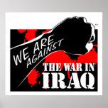 Estamos contra la guerra en Iraq Poster