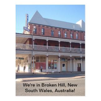 Estamos en la colina quebrada, Nuevo Gales del Sur Tarjetas Postales