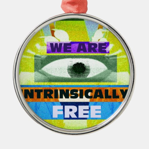 ¡Estamos intrínseco libres! Adorno Navideño Redondo De Metal