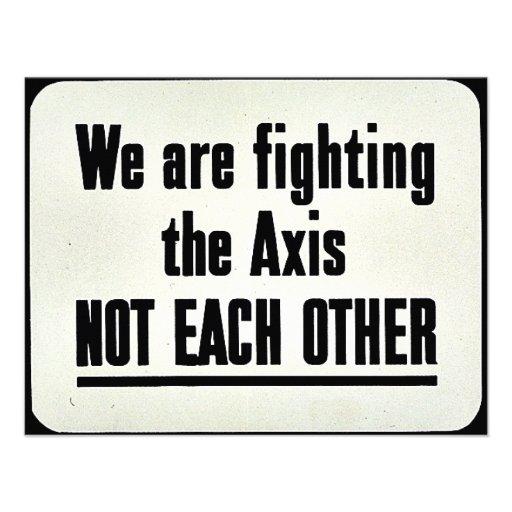 Estamos luchando AXIS no Comunicados Personalizados