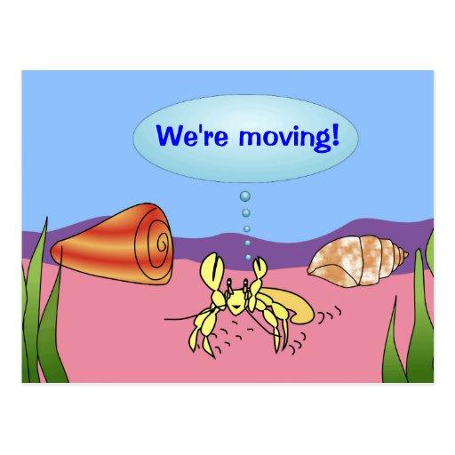 Estamos moviendo el cambio de cangrejo de ermitaño postal