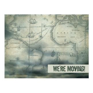 Estamos moviendo el mapa del vintage postales