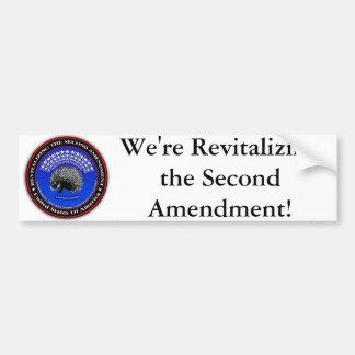 Estamos revitalizando la segunda enmienda Bmprstck Pegatina Para Auto